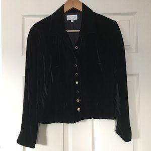 Laundry black Rayon velour blazer Size 8
